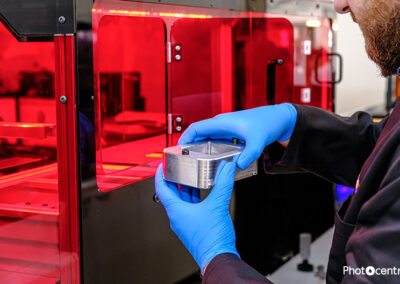 3D Printing batteries using our novel visible light polymerisation in combination with our LCD screen-based 3D printers Photocentric